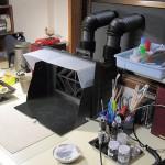 プラモデル作業机