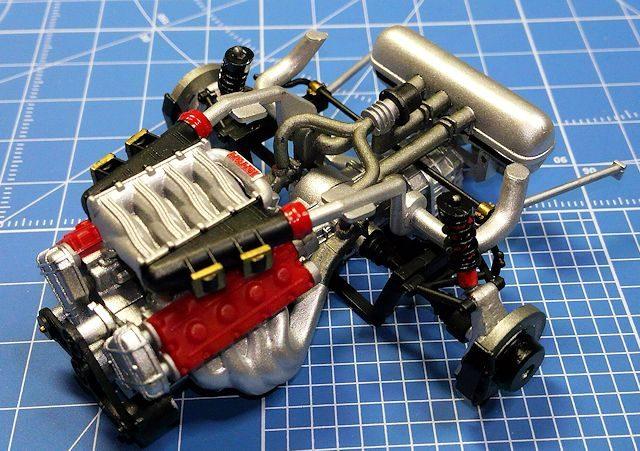 タミヤ1/24フェラーリF40 エンジン