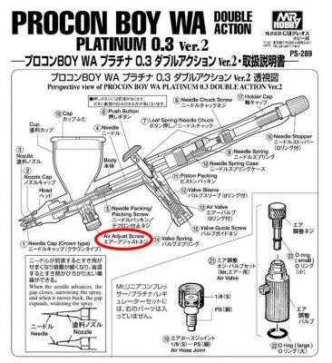 PS289プロコンBOY WAプラチナ0.3 Ver.2 ダブルアクション